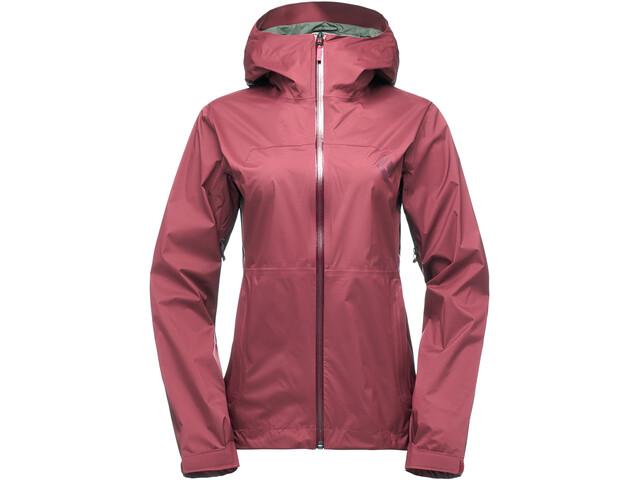 Black Diamond Stormline Stretch Rain Shell Jacket Women wild rose
